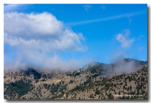 Clouds on the foothills