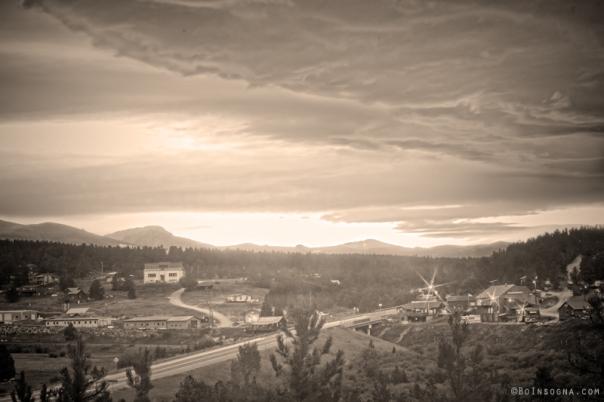 Old Rollinsville Colorado sepia print