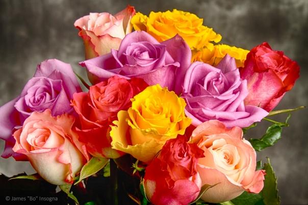 Beautiful Bouquet Of Multicolor Roses