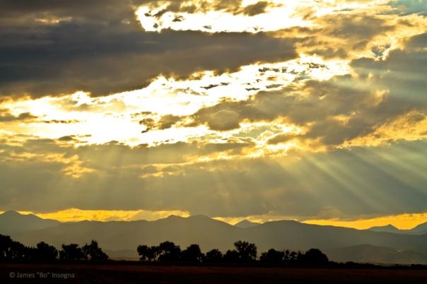Golden Beams Of Sunlight Shining Down