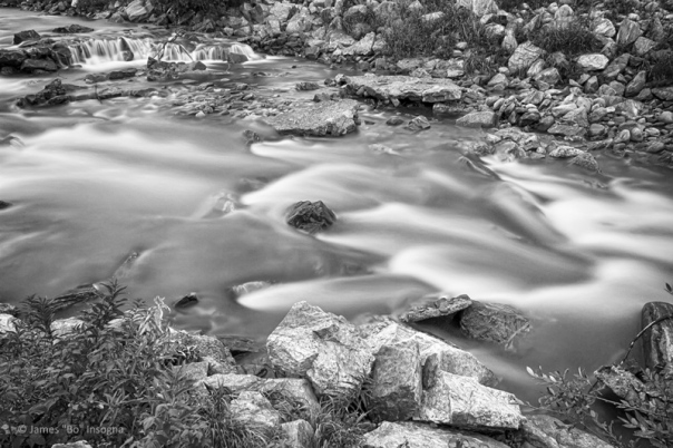 South Boulder Creek Little Waterfalls Rollinsville BW