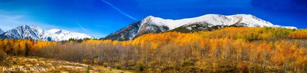 Colorado Rocky Mountain Independence Pass Autumn Panorama
