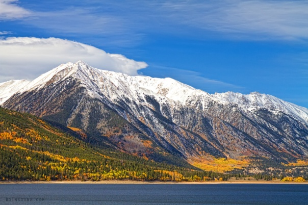 Twin Lakes Autumn Landscape