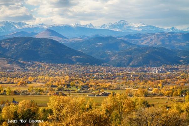 Boulder Colorado Golden Autumn Scenic View