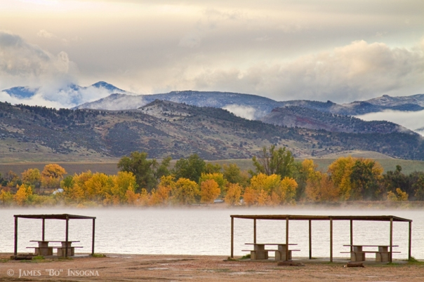 Foothills Reservoir Autumn View Boulder County