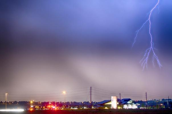 Fire Station Lightning Strike