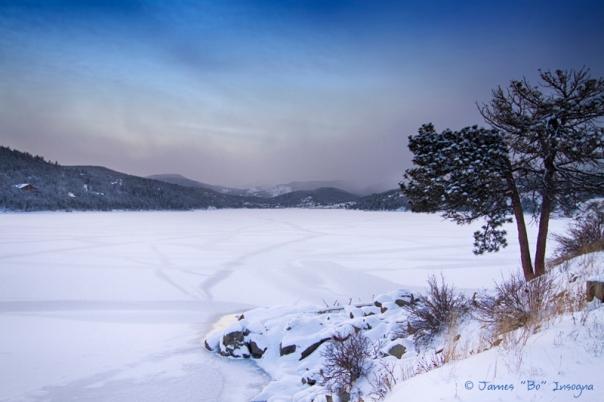 Nederland Colorado Barker Reservoir Winter Secnic View