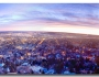 City Lights Boulder Colorado Panorama Sunrise