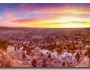 Boulder Colorado Colorful Sunrise Wide Panorama View