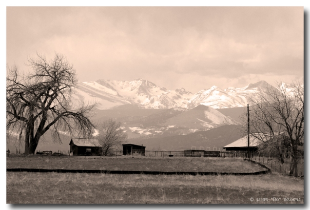 Rocky Mountain Lafayette View Sepia