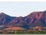 Boulder Colorado Flatirons First Light Panorama