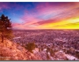 Boulder Colorado Colorful Sunrise City View