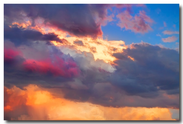 Cloudscape Sunset Touch Of Blue