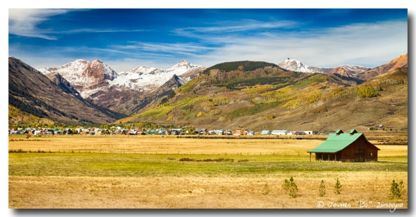 Crested Butte City Colorado Panorama View