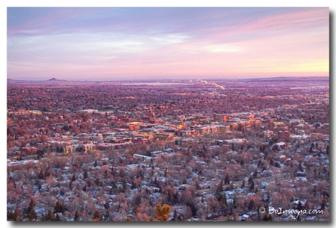 Downtown Boulder Colorado Morning View