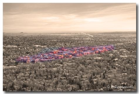 Downtown Boulder Colorado Morning Sepia View SC - James Bo Insogna
