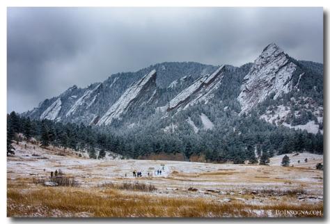 Dusted Flatirons Chautauqua Park Boulder Colorado - James Bo Insogna