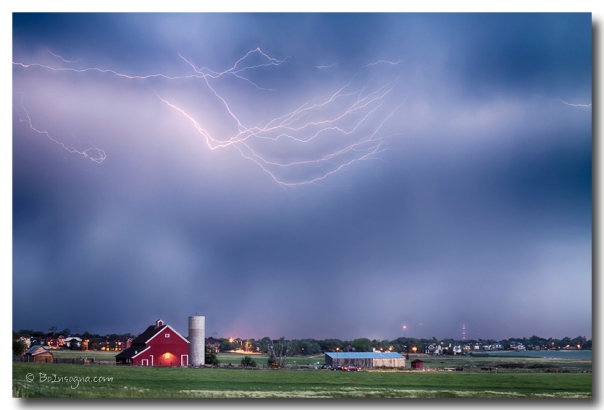 Lightning Storm And The Big Red Barn