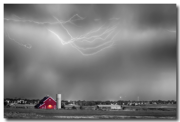 Lightning Storm And The Big Red Barn BWSC