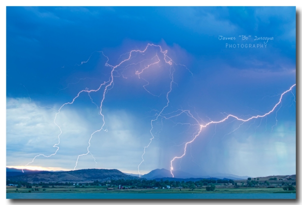 Rocky Mountain Foothills Lightning Strikes - James Bo Insogna