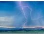 Rocky Mountain Foothills Lightning Strikes 2HDR