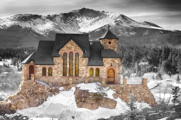 Chapel on the Rock BWSC Art Print