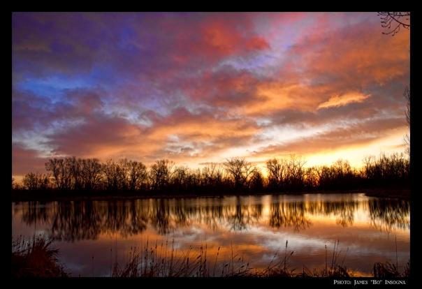 Crane Hollow Sunrise Reflections 2 Canvas Art