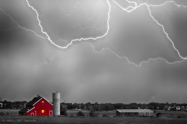 Art Print Farm Storm HDR BWSC