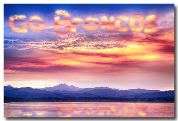 Go Broncos Colorful Colorado