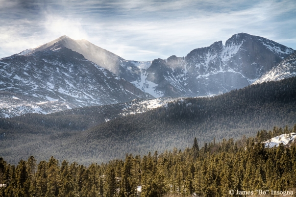 Art Print  Longs Peak Winter View