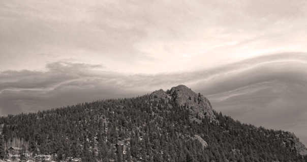 Buffalo Rock Shelf Cloud Panorama Art Print