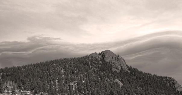 Buffalo Rock Shelf Cloud Panorama Art Print