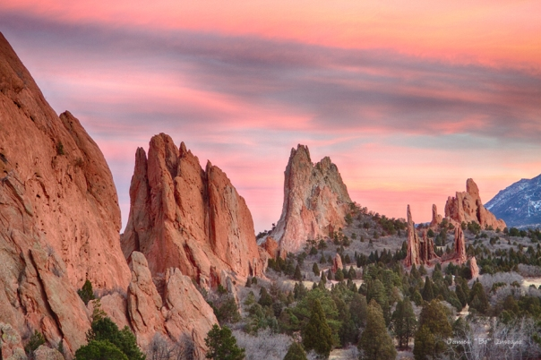 Colorado Garden of the Gods Sunset View Art Print