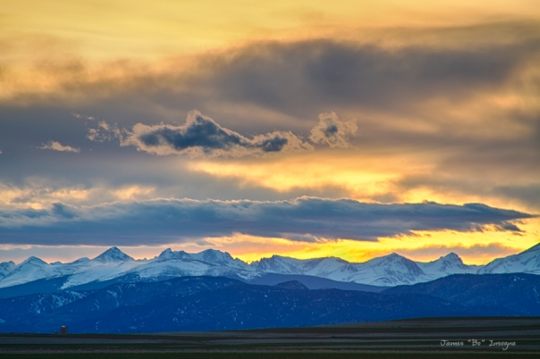 Colorado Rocky Mountain Front Range Sunset Gold Art Print