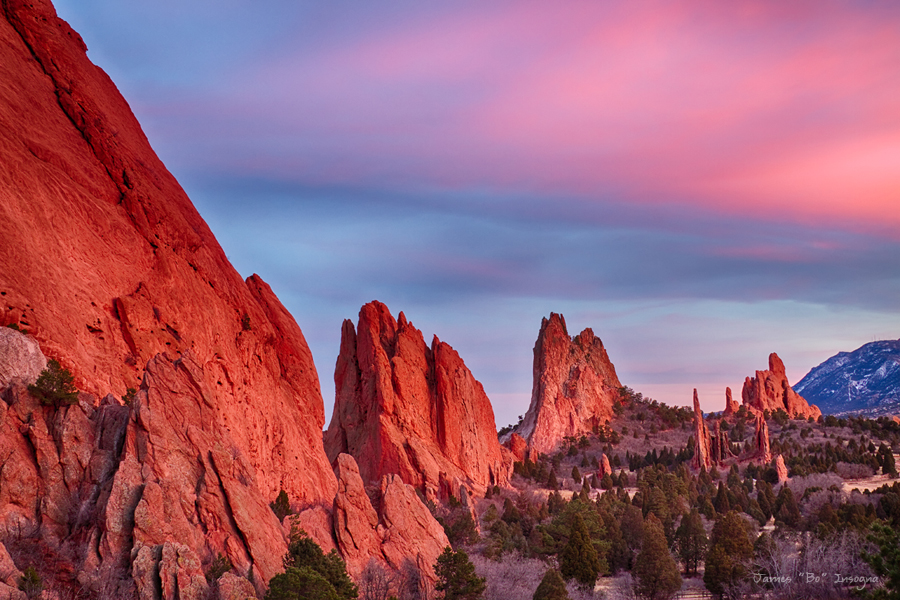 Garden Of The Gods Sunset View Striking Photography By