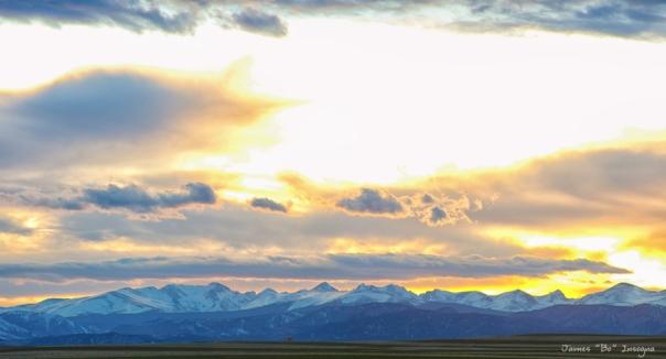 Rocky Mountain Lookout Sunset Panorama Art Print