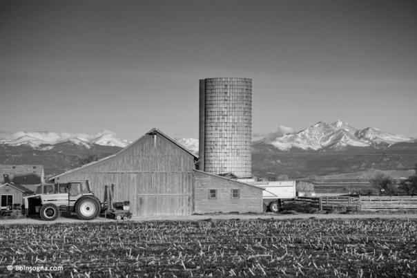 Colorado Farming in Black and White