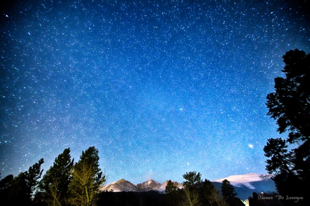 Longs Peak Stargazing Colorado Art Print