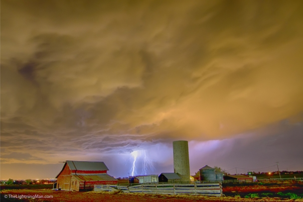 Thunderstorm Hunkering Down On The Farm
