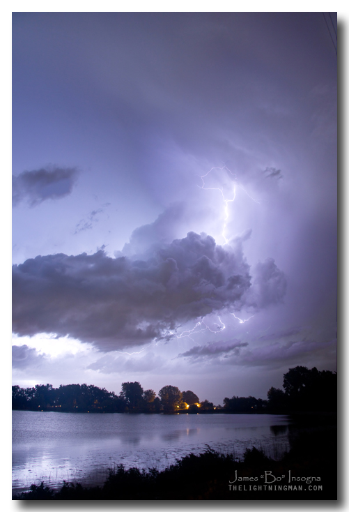 Lake Thunder Cell Lightning Burst Art Print