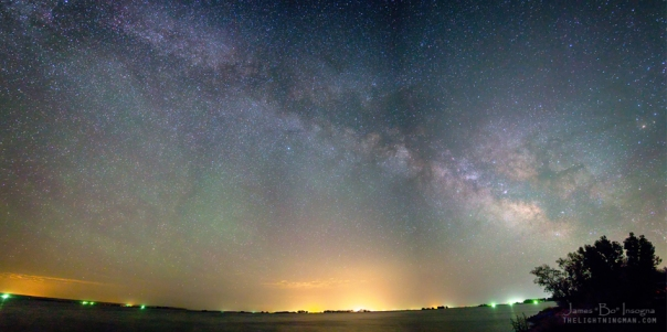 Rural Night Sky Panorama