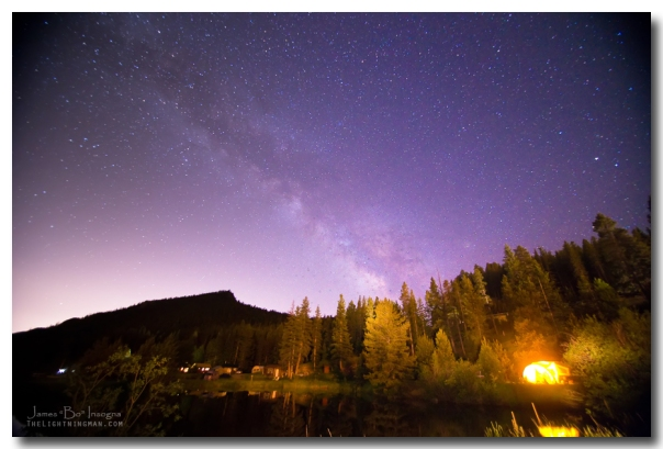 Colorado Rocky Mountain Milky Way View Art