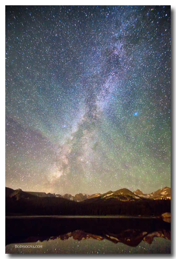 Rocky Mountains Indian Peaks Milky Way Rising Metal Prints