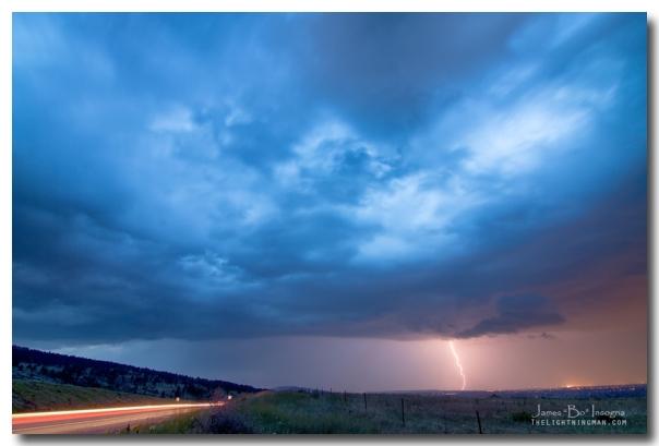 Lightning Strike Just Outside of Lyons Colorado Art Prints