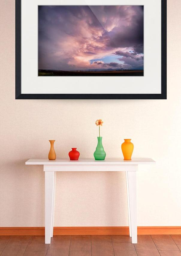 Mammatus Sunset Over Boulder Colorado Art Print