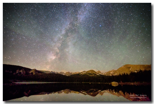 Milky Way Over The Colorado Indian Peaks Prints