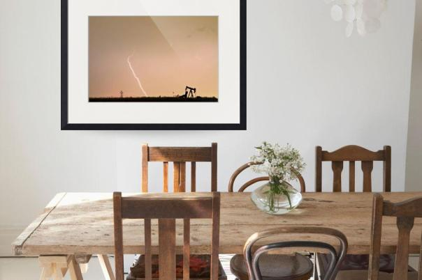 Nature - Power And Oil Art Print