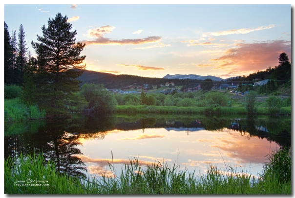 Rollinsville Colorado HDR Sunset Art Print