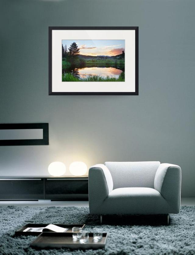 Rollinsville Colorado HDR Sunset Art Print