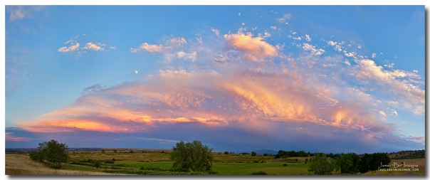 Storm Sunset Moon Longmont to Boulder CO Panorama C Photography Prints